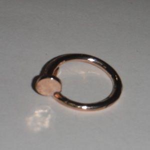 Coiled Nail Fashion Ring